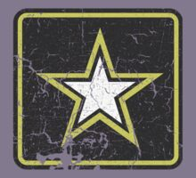 Vintage Look US Army Star Logo  Kids Tee