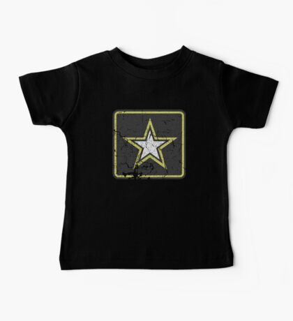 Vintage Look US Army Star Logo  Baby Tee