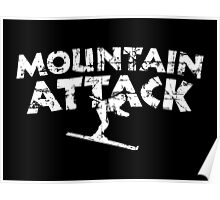 Mountain Attack Winter Sports Ski Design (White) Poster