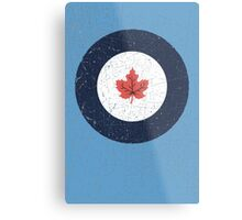 Vintage Look WW2 Royal Canadian Air Force Roundel Metal Print