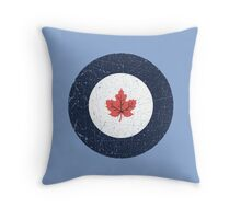 Vintage Look WW2 Royal Canadian Air Force Roundel Throw Pillow