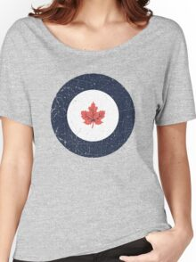 Vintage Look WW2 Royal Canadian Air Force Roundel Women's Relaxed Fit T-Shirt