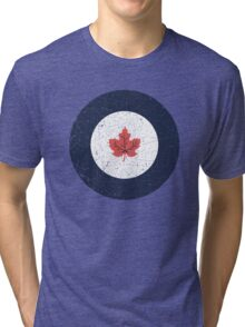 Vintage Look WW2 Royal Canadian Air Force Roundel Tri-blend T-Shirt