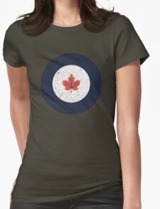 Vintage Look WW2 Royal Canadian Air Force Roundel Womens Fitted T-Shirt