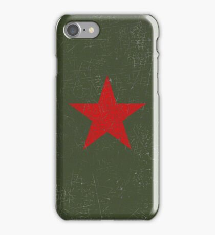 Vintage Look Russian Red Star iPhone Case/Skin