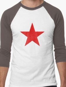 Vintage Look Russian Red Star Men's Baseball ¾ T-Shirt