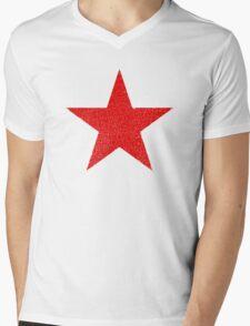 Vintage Look Russian Red Star Mens V-Neck T-Shirt