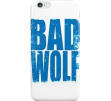 BAD WOLF (BLUE) iPhone Case/Skin