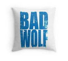 BAD WOLF (BLUE) Throw Pillow