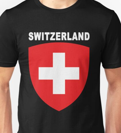 Swiss National Suisse Design - HD Switzerland Style Unisex T-Shirt