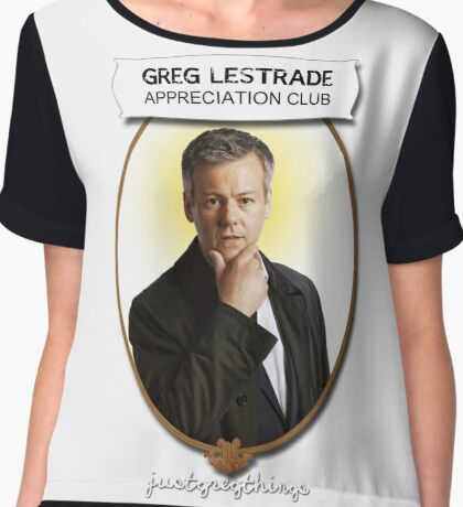 Greg Lestrade Appreciation Club Chiffon Top