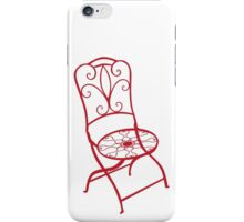 BISTRO FOLDING CHAIR - red iPhone Case/Skin