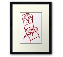 BISTRO FOLDING CHAIR - red Framed Print