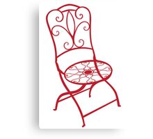 BISTRO FOLDING CHAIR - red Canvas Print