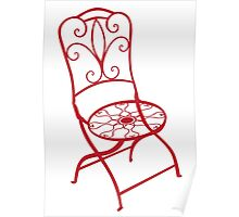 BISTRO FOLDING CHAIR - red Poster
