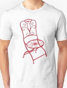 BISTRO FOLDING CHAIR - red T-Shirt