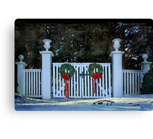 Christmas at Winterthur Canvas Print