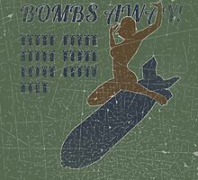 Vintage Look Bombs Away Pin-up Girl Art by VintageSpirit