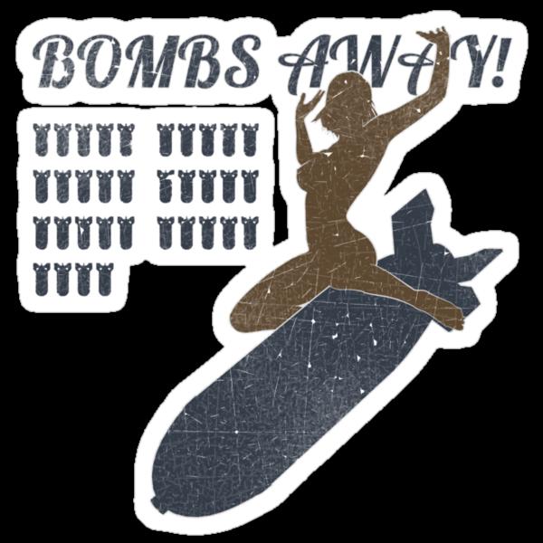 Vintage Look Bombs Away Pin-up Girl Art by VintageSpirit