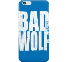 BAD WOLF (WHITE) iPhone Case/Skin