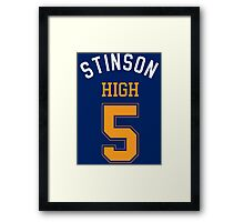 STINSON HIGH 5 Framed Print