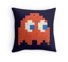 Vintage Look Arcade Pixel Ghost Man  Throw Pillow