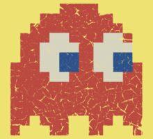 Vintage Look Arcade Pixel Ghost Man  Kids Tee