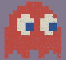 Vintage Look Arcade Pixel Ghost Man  Kids Clothes