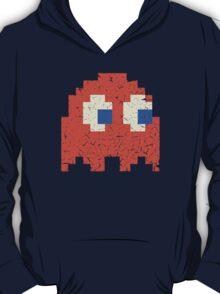 Vintage Look Arcade Pixel Ghost Man  T-Shirt