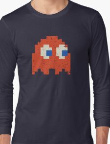 Vintage Look Arcade Pixel Ghost Man  Long Sleeve T-Shirt