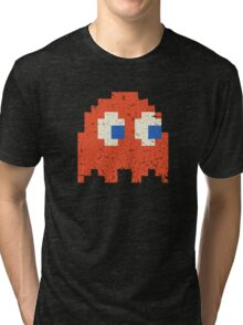 Vintage Look Arcade Pixel Ghost Man  Tri-blend T-Shirt