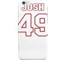 NFL Player Josh Hull fortynine 49 iPhone Case/Skin