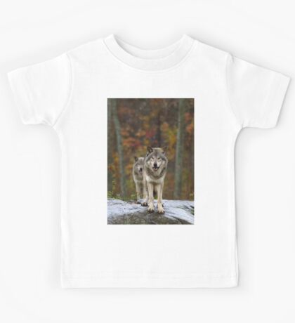 Double Trouble - Timber Wolves Kids Tee