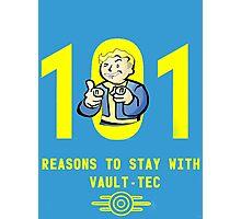 Vault Boy's 101 Reasons For Vault-Tec Photographic Print