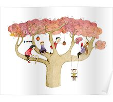 Playing In The Tree Poster