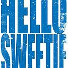 HELLO SWEETIE (BLUE) by Penelope Barbalios