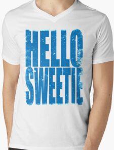 HELLO SWEETIE (BLUE) Mens V-Neck T-Shirt