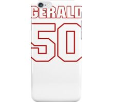 NFL Player Gerald Hodges fifty 50 iPhone Case/Skin