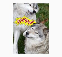 Wolves at play - Timber Wolf Unisex T-Shirt