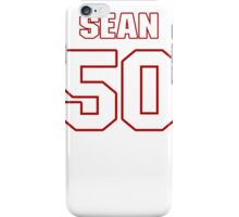 NFL Player Sean Lee fifty 50 iPhone Case/Skin