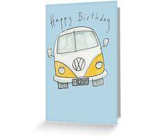 Happy Birthday VW Camper Van  Greeting Card