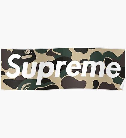 Supreme x bape (camo logo) Poster