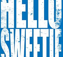 HELLO SWEETIE (WHITE) by Penelope Barbalios