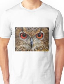 Indian Eagle Owl Portrait Unisex T-Shirt