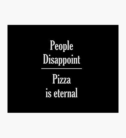 pizza (white) Photographic Print