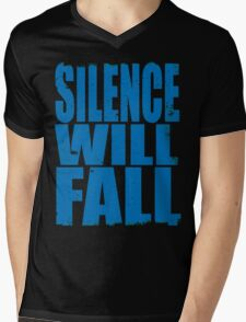 Silence Will Fall (BLUE) Mens V-Neck T-Shirt