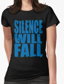 Silence Will Fall (BLUE) Womens Fitted T-Shirt