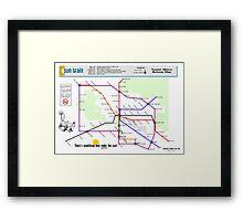Sun Train - Tucson Metro Subway Map Framed Print