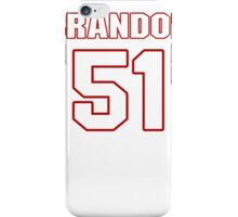 NFL Player Brandon Copeland fiftyone 51 iPhone Case/Skin