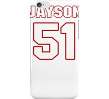 NFL Player Jayson DiManche fiftyone 51 iPhone Case/Skin